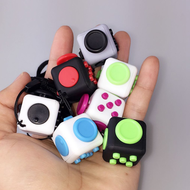 2017 Hot Squeeze Fun Stress Reliever Fidget Cube Relieves Anxiety and Stress Toys Fidget Cube 11 Style 9 types squeeze stress reliever fidget cube pc vinyl fidgetcube game toy kickstarter fidget toys for girl boys christmas gifts