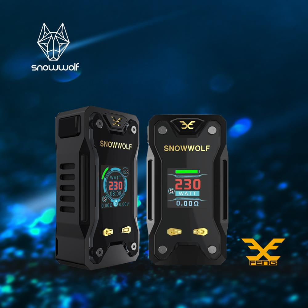 2pcs/lot Snowwolf Original 230W Mod Box Electronic Cigarette Kit Vfeng with Big LCD Display Cigarette Vape 510 Thread Tank Vape small cigarette box vending machine bjy b50 with light box