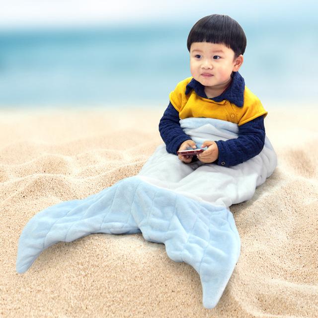 Los niños de La Sirena Manta Tejer Doble Sirena Cola de Sirena Niños Manta de Franela Aire Acondicionado Manta Manta Swaddle