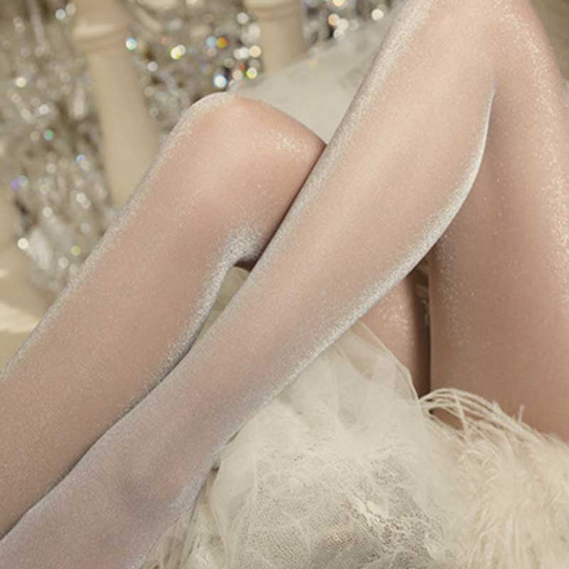 Sexy Nightclub Shiny Tights Women Cool Biling Breathable Transparent Stocking Thin Shiny Ladies Night Tights High Elasticity Sox
