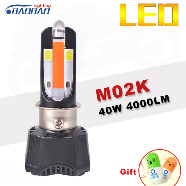 Tremendous Baobao Motorcycle Led Headlight Rtd M02K Drl 40W 4000Lm 6000K White Wiring Cloud Oideiuggs Outletorg