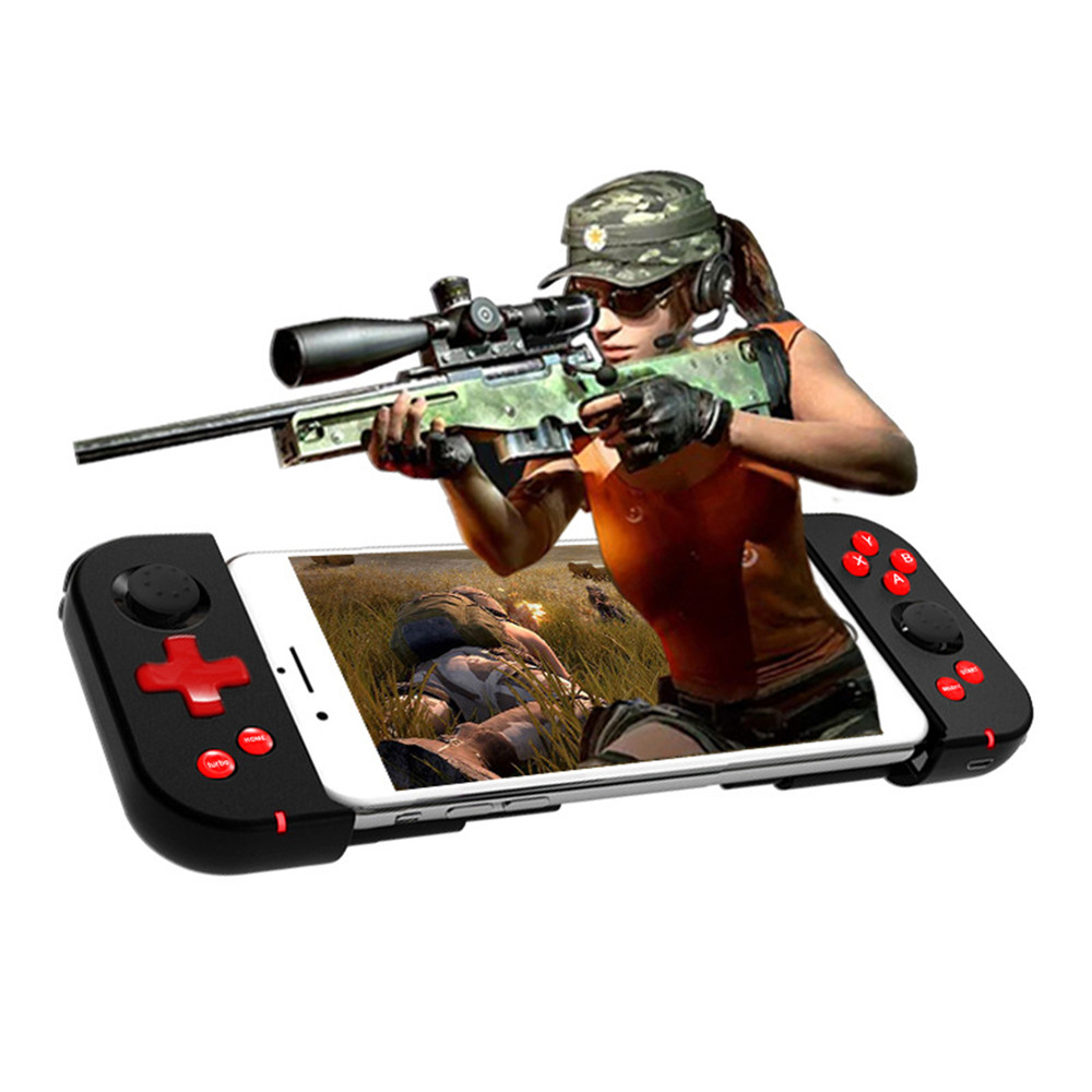 Image 2 - Wireless Bluetooth 4.0 Gamepad Game Handle Controller Stretchable Joystick for iOS Android Smartphone Tablet For PUBG Mobile-in Gamepads from Consumer Electronics