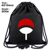 Наруто нарисовать круглые глаза konoha холщовая сокращенная Студенческая нарисованная струна луч рюкзак с карманами сумка