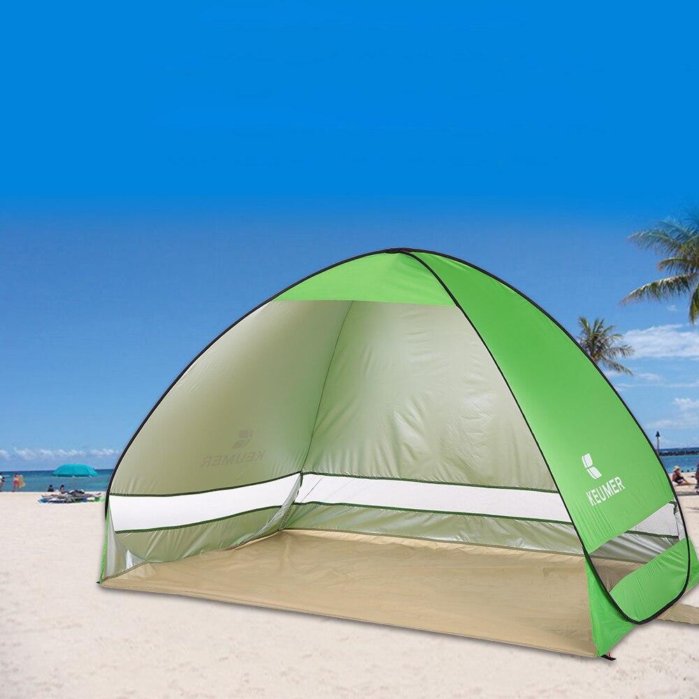 Быстрый Автоматическое Открытие пляж палатка для 1-2 человек открытый Ультрафиолетовый доказательство Водонепроницаемый палатка Лето палатка для кемпинга рыбалка