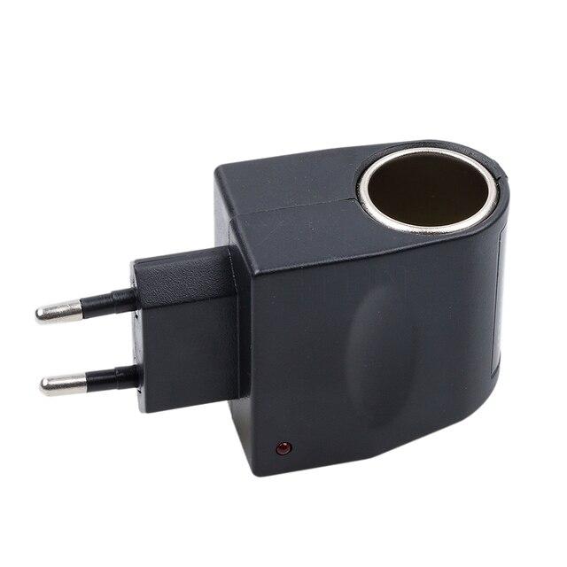 Us Eu Plug Car Adapter Converter Cigarette Lighter Ac 220v To Dc 12v For Wall