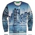 [Эми] Новые моды для Женщин/Мужчин печати города midnigh красивые 3D Толстовки Пуловеры блузка древняя Galaxy толстовки пульс размер