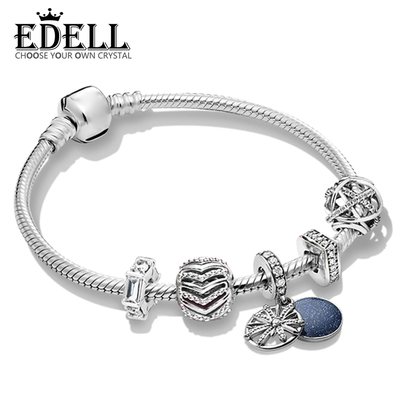 EDELL 100% 925 Sterling Silver 2019 Brand New Wishes ZT0249 Stylish Wish Charm Fireworks Hanging Charm String Bracelet Gift SetEDELL 100% 925 Sterling Silver 2019 Brand New Wishes ZT0249 Stylish Wish Charm Fireworks Hanging Charm String Bracelet Gift Set