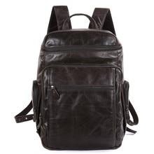 JMD New Arrival 100% Excellent Genuine Leather Grey Duffels Travel Backpacks Huge Hiking Bag Free Ship 5Pcs/Lot # 7202J