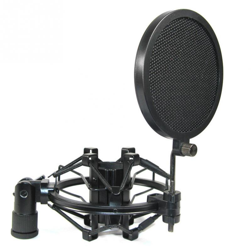 good quality small size microphone cover double layers iron net wind filter studio recording. Black Bedroom Furniture Sets. Home Design Ideas