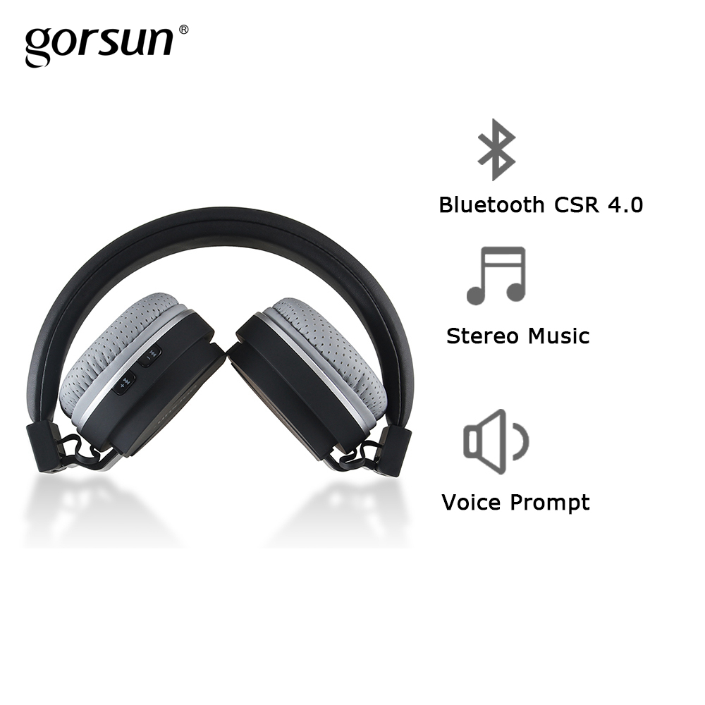 Bluetooth Wireless Headphones Gorsun E1 On Ear Stereo Foldable Headset Lightweight with HD Sound for phone iPhone xiaomi original rosity v8 bluetooth stereo headphones wireless bluetooth 4 0 headset on the ear headphone for iphone xiaomi
