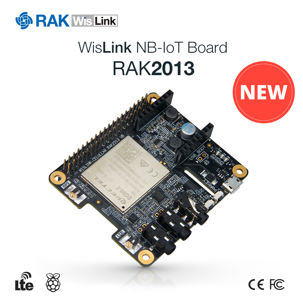 WisLink NB-IoT Cellular Communication Module Raspberry Pi-HAT Edition CAT-M CAT4 Support VoLTE With LTE GPS Antenna RAK2013 Q250