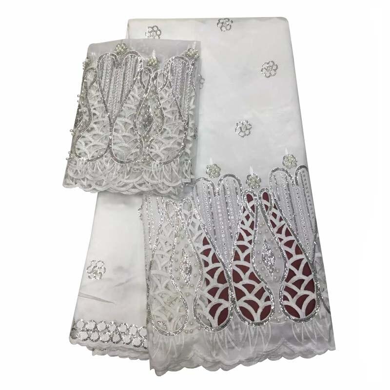3ffa521c5cf5 Nouvelle conception Africaine george dentelle paillettes broderie george  dentelle tissu pour robe de soirée + 2 mètres WKS48-34