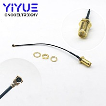 лучшая цена 1 pcs for PCI Wifi Card U.FL IPX to RP-SMA female (male pin) RF Pigtail Cable Jumper 10CM