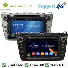 Quad Core 8″ 1024*600 Android 5.1.1 Car DVD Video Player Radio Stereo DAB+ 3G/4G WIFI GPS Map For Mazda 6 Ruiyi Ultra 2008-2012