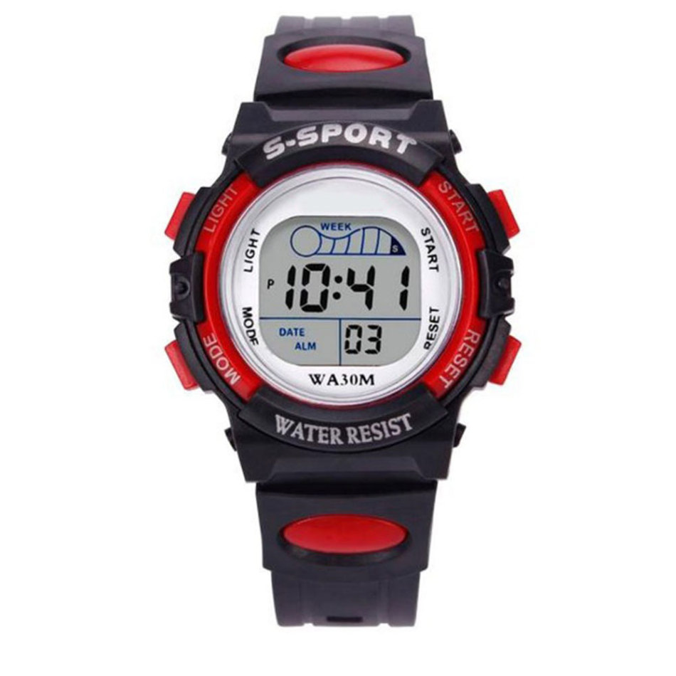Fashion Simple Sports Alarm Clock Date Watch Gift Multi Functional Children's Digital LED Sports Watch