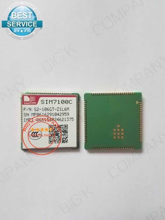 JINYUSHI FOR 10PCS/LOT SIM7100C 4G 100% New&Original Genuine Distributor TDD-LTE/FDD-LTE/WCDMA  Embedded quad-band module jinyushi for 5pcs lot sim7100a 4g 100% new