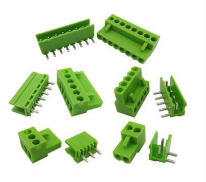 10sets Terminal plug type 300V 10A ht3.96 3.96mm pitch connector pcb screw terminal blocks connector Right Angle 2/3/4/5/6/7/8P