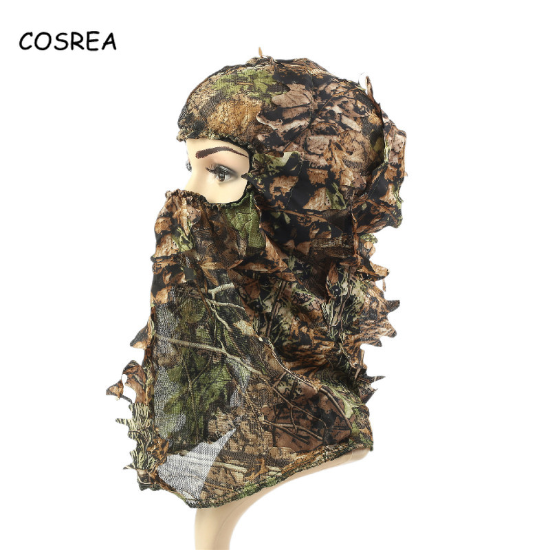 Cosrea Cosplay Costume Camouflage Mask for Hunting Outdoor Tactical Hood Headwear Soft Comfortable Balaclavas Full Face Mask