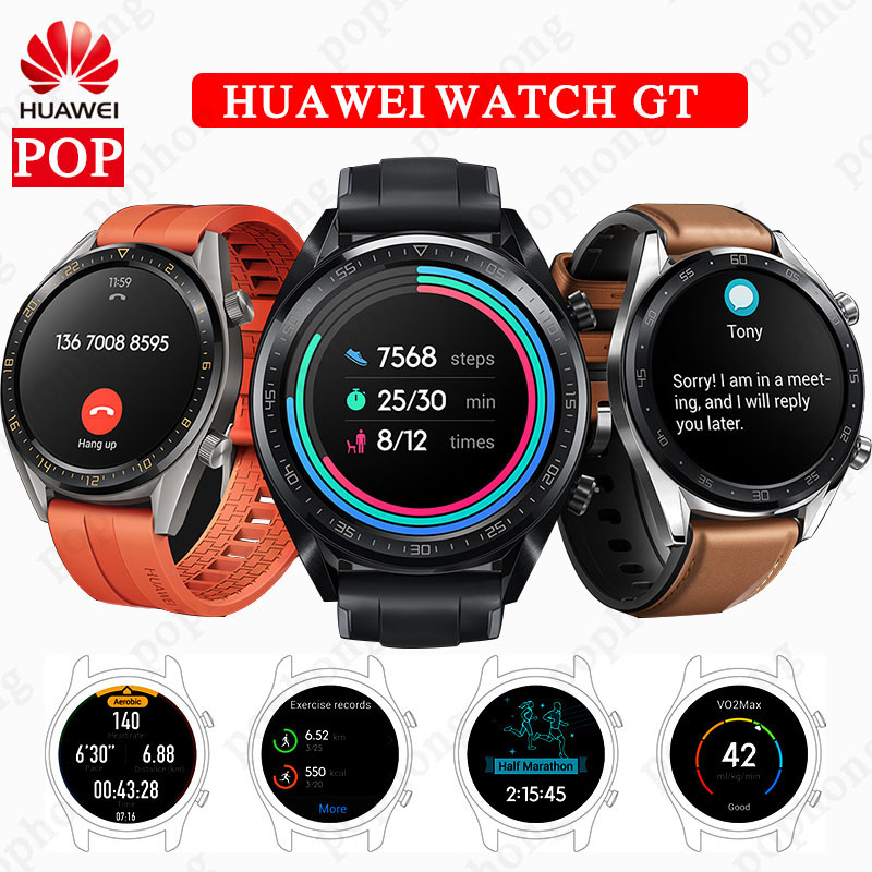 HUAWEI WATCH GT Smart Sport Watch AMOLED Colorful Screen Heartrate Report GPS Swim Jogging Cycling Sleep Monitor Watch