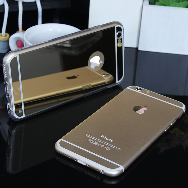 For iPhone 5 5s SE Luxury Mirror Electroplating Soft Clear Tpu Cases Cover