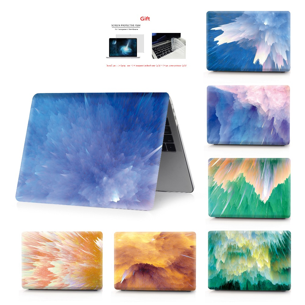 Color painting notebook case for Macbook Air 13 11 Pro Retina 12 13 15 inch Colors Touch Bar for New Air 13 and New Pro 13 15-in Laptop Bags & Cases from Computer & Office