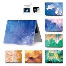 컬러 페인팅 노트북 케이스 macbook air 13 11 pro retina 12 13 15 인치 컬러 터치 바 new air 13 및 new pro 13 15