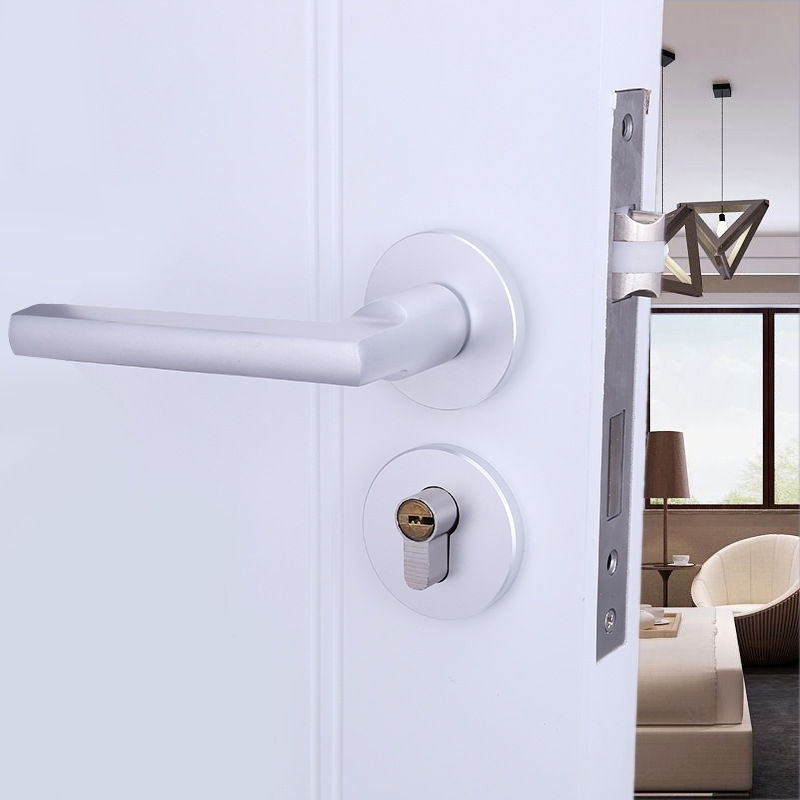 2018 Free Shipping Selling Bedroom Contracted Mute Fission Of Hand Lock Space Aluminum Interior Door Hardware Locks. 505-84 2018 padlock cadeado manufacturers wholesale interior contracted locks space aluminum yabai hand lock 58 mute body hardware