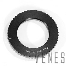 Venes M42 Nik Z Ultra slim Lens Mount Adapter Ring for M42 Lens to Suit for Nikon Z Mount Camera Z6, Z7