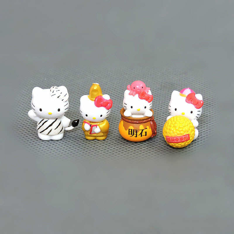 Image 5 - 100pcs/lot 1.5 2.5cm Mini Hello Kitty Action Figures Plastic PVC Christmas Toy Kids Home Cake Decor Collectible Toys S4272Action & Toy Figures   -