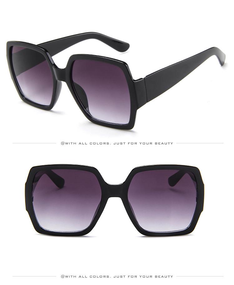 19 Oversized Sunglasses for Women Brand Designer Retro Sun glasses Red Green Shades Eyewear sunglasses woman 11