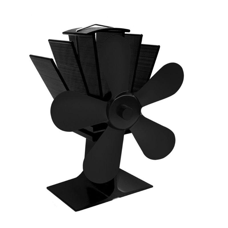 5 Blades Heat Powered Stove Fan Aluminium Silent Eco-Friendly Heat Distribution Fuel Saving Quiet Home Fireplace Fan5 Blades Heat Powered Stove Fan Aluminium Silent Eco-Friendly Heat Distribution Fuel Saving Quiet Home Fireplace Fan