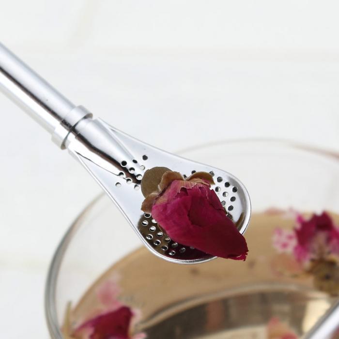 Экологичная ложка из нержавеющей стали соломинки ситечко для чая шейкер фильтр для кофе Ложки Посуда 669