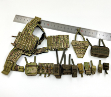 1/6 Scale 26020R CAG Chest Hanging with Bags Models set for 12''Action Figures Bodies Accessories