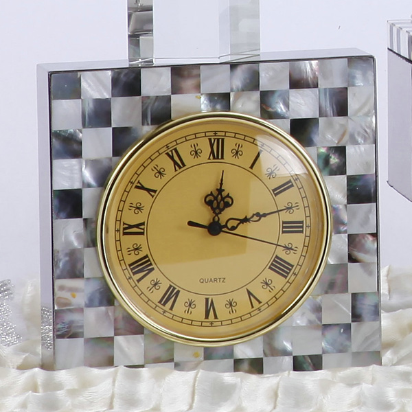 Modern Luxury Italian Style Home Decorative Table Clock European Clical Ceramic With Alloy Desk