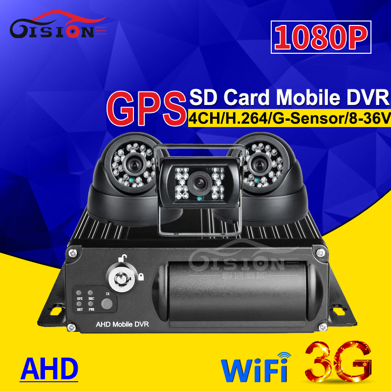 4CH 3G GPS WIFI SD Car Dvr Mobile Dvr G-sensor Real Time Watching Loop Recording+ 3Pcs Night Vision Car Camera For Bus Taxi Van free shipping 4 ch 4g gps vehicle car dvr kit h 264 g sensor mobile dvr pc phone real time view duty cctv camera for car truck