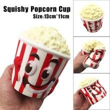 13CM Kawaii Squishy Smile Arc fehér Popcorn játékok lassú emelkedő illatos kenyér Squshies telefon Charm DIY dekoráció Jumbo Gyerekek Toy Ajándék