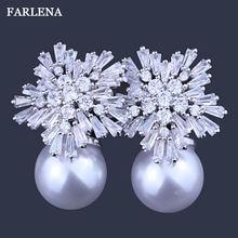 Farlena брендовые Двойные серьги гвоздики из искусственного