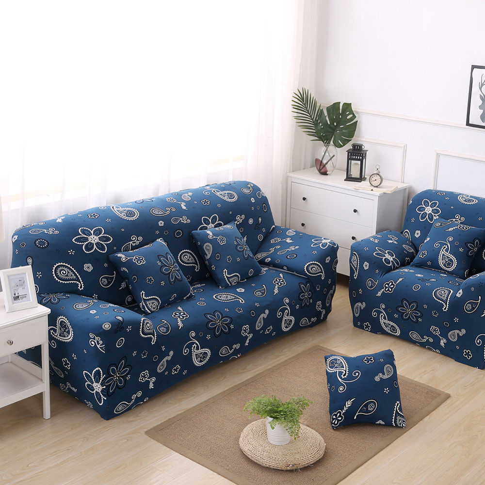 Floral Printed Stretch Slipcovers Elastic Flexible Couch