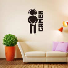 Gamer Wall stickers Home Decorative DIY  Wall stickers For Kids Room Decoration Art Mural Boy Bedroom Decor Door Wall Sticker old wooden door wall stickers diy mural bedroom home decor