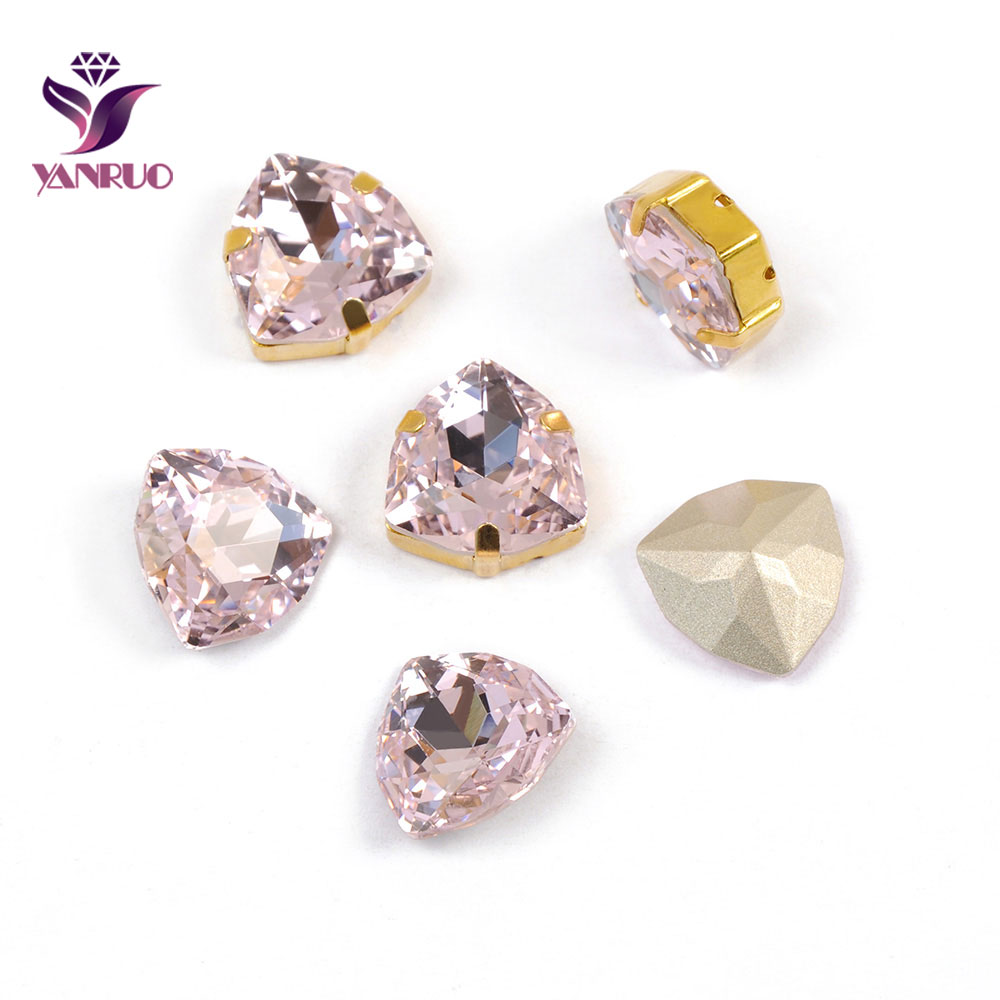 YANRUO 4706 Trilliant Light Rose Sewing Rhinestones Fancy Diamond Accessories For Clothes