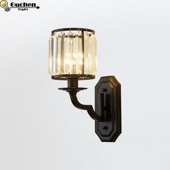 Moderne Minimalistischen Vintage kristall wand lampe CafeRoom/Bar Lampe Einzigen Glas wand licht für schlafzimmer Dekoration Innen Beleuchtung E27