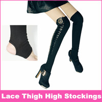 Free Shipping Black Ankle Stocking Step Sexy Half Leg Socks Autumn And Winter Foot Wrapping Sets