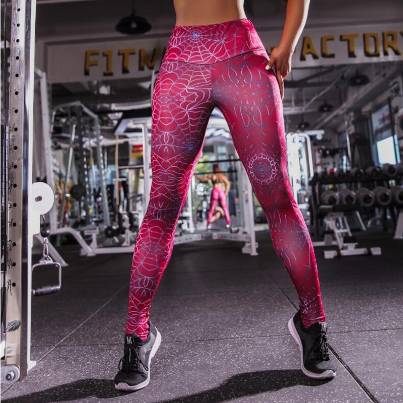 3D Batman Spiderman red   legging   sportswear ruched pants 2018 athleisure bodybuilding high waist push up   leggings   women fitness