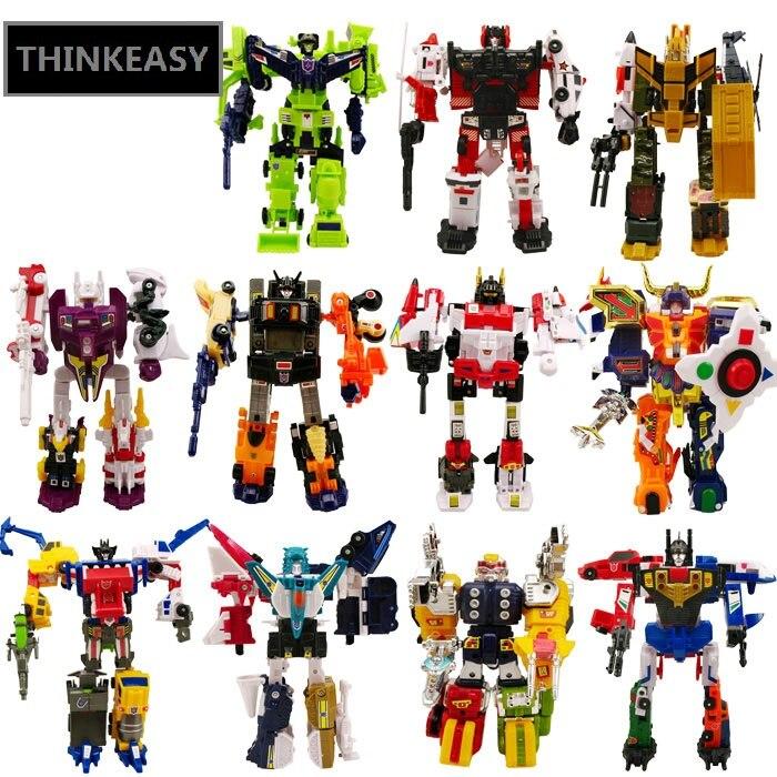 Super Transformation Robots Anime Figures Set Toy For Children Gift Car Model Deformation Cars Transform action Figures