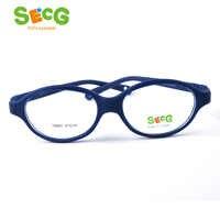 SECG Miopia Ottica Ovale Rotondo Per Bambini Occhiali Cornice di Plastica Occhiali per la Vista Dei Bambini di Correzione Morbido Per Bambini Occhiali Telaio