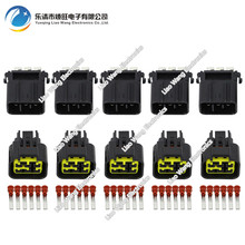 цена на 5 Sets 6 Pin plastic parts car connector  motorcycle connector with terminal plug DJ70620-2.3-11 / 21 6P