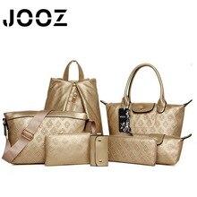 JOOZ Brand New Elegant Luxury Lady Hobos Handbag 7 Pcs Composite Bags Set Women Shoulder Crossbody Bags Coin Purse Clutch Wallet