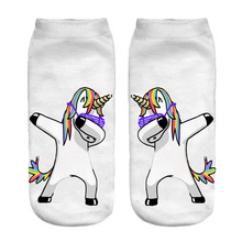 Women's Colorful Unicorn Patterned Socks