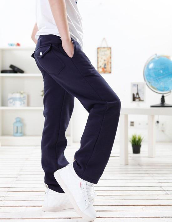 Speciální cena 5-9T Boy Teplákové kalhoty Zimní kalhoty zimní - Dětské oblečení - Fotografie 2