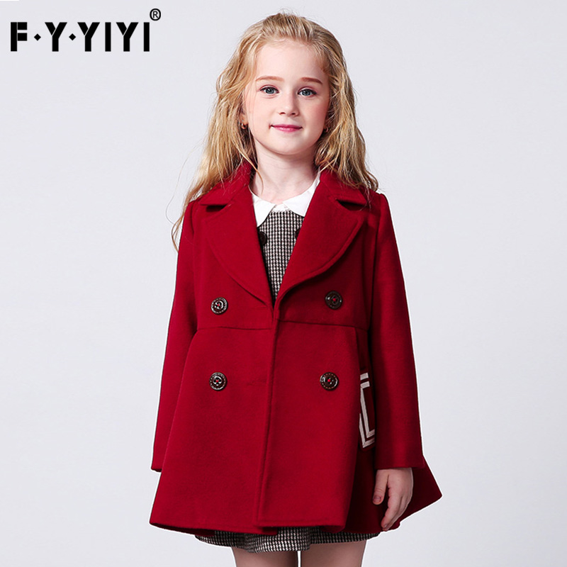все цены на Spring and autumn coat Children's clothes lapel Woolen coat Medium and large children's clothing 2017 new clothes for girls